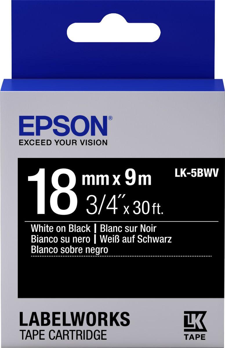 Картридж Epson для LabelWorks LW-400/LW-400VP/LW-700/LW-900P, C53S655014, оригинальный, черный цена