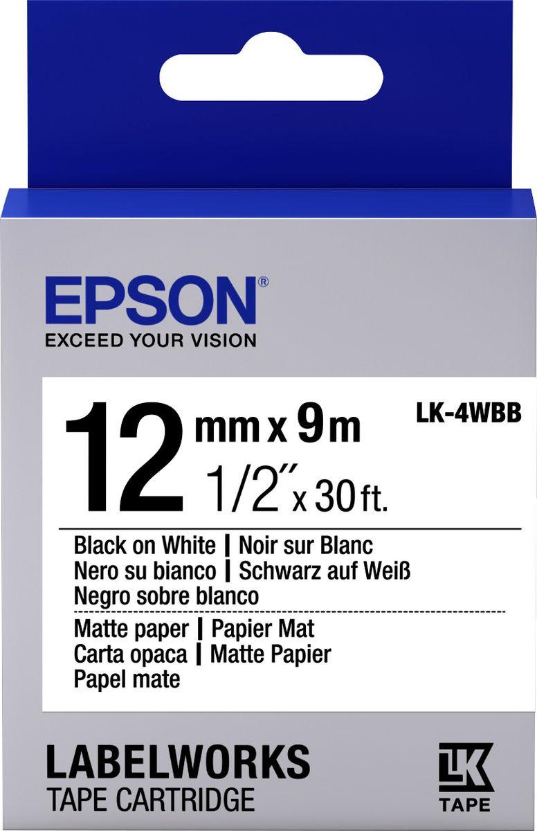 Картридж Epson для LabelWorks LW-300/LW-400/LW-400VP/LW-700/LW-900P, C53S654023, оригинальный, белый цена