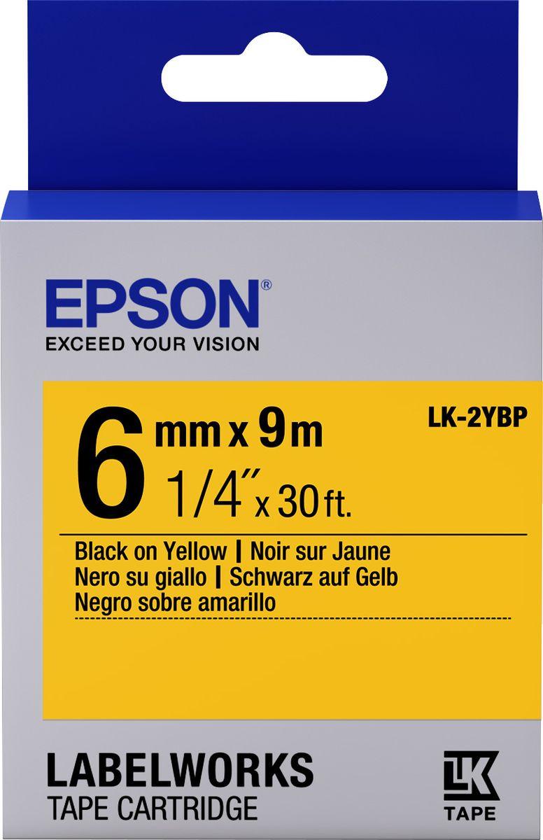 Картридж Epson для LabelWorks LW-300/LW-400/LW-400VP/LW-700/LW-900P, C53S652002, оригинальный, желтый цена