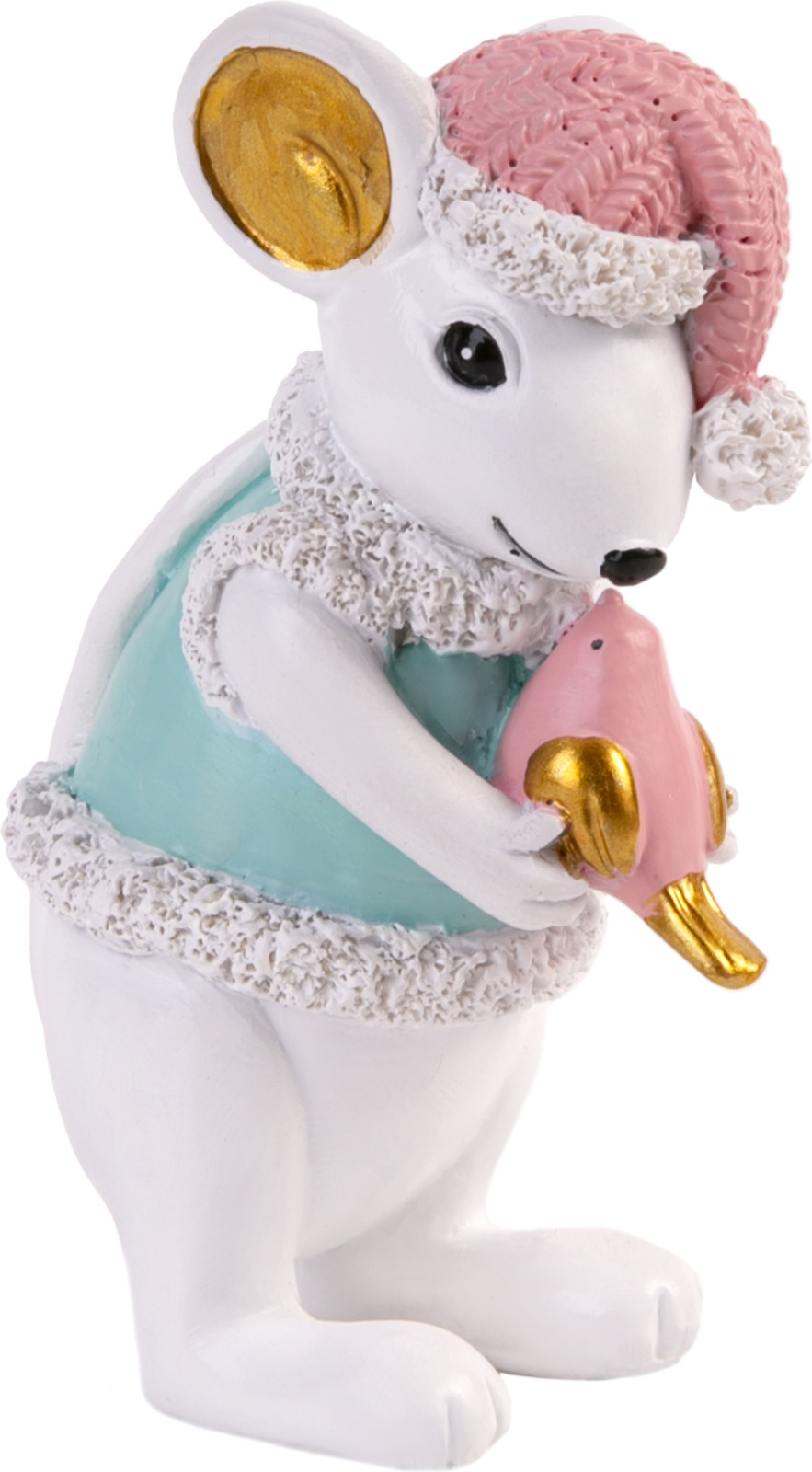 Фигурка декоративная Magic Time Мышка с птичкой, 80063, разноцветный, 8,5 х 3,5 4 см
