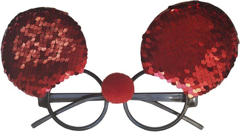 Очки карнавальные Magic Time Пайетки, 80989, красный, 19 х 11 х 4 см