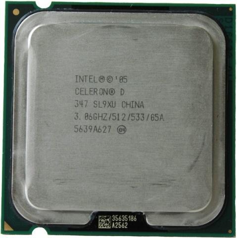 Процессор Intel Celeron D 347 (512K Cache, 3.06 GHz, 533 MHz FSB) процессоры для ноутбуков сравнение