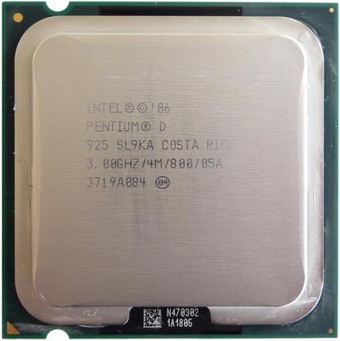 Процессор Intel Pentium D 925 (4M Cache, 3.00 GHz, 800 MHz FSB) t7300 cpu 4m socket 479 cache 2 0ghz 800 dual core processor support 965