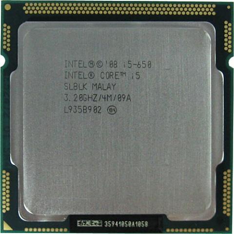 Процессор Intel Core i5-650 (4M Cache, 3.20 GHz) t7300 cpu 4m socket 479 cache 2 0ghz 800 dual core processor support 965