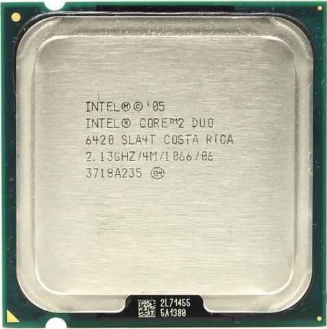 Процессор Intel Core 2 Duo E6420 (4M Cache, 2.13 GHz, 1066 MHz FSB) t7300 cpu 4m socket 479 cache 2 0ghz 800 dual core processor support 965