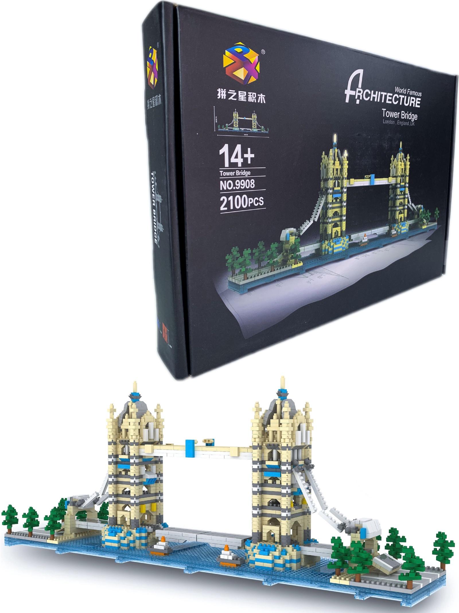 """3D Конструктор большой """"Тауэрский мост (Tower Bridge)"""", серия """"Вундеркинд"""" Город Игр"""