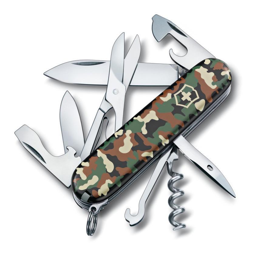 Нож перочинный Victorinox Climber (1.3703.94) 91мм 14 функций камуфляж карт.коробка