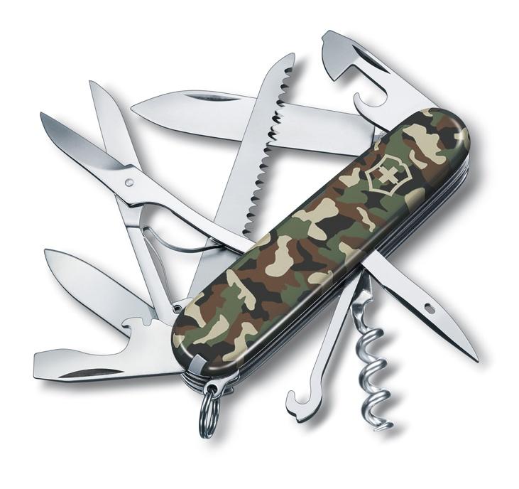 Нож перочинный Victorinox Huntsman (1.3713.94) 91мм 15 функций камуфляж карт.коробка