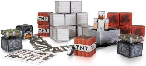 Фигурка Minecraft Papercraft - Overworld Minecart Pack minecraft сборная модель из бумаги minecraft papercraft вагонетка и тнт 48 деталей