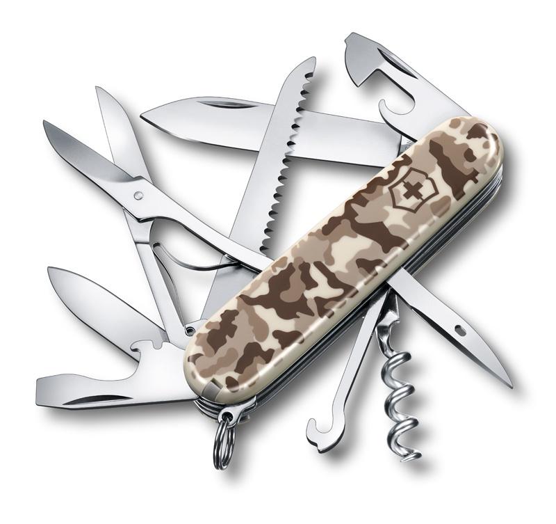 Нож перочинный Victorinox Huntsman (1.3713.941) 91мм 15 функций камуфляж пустыни карт.коробка