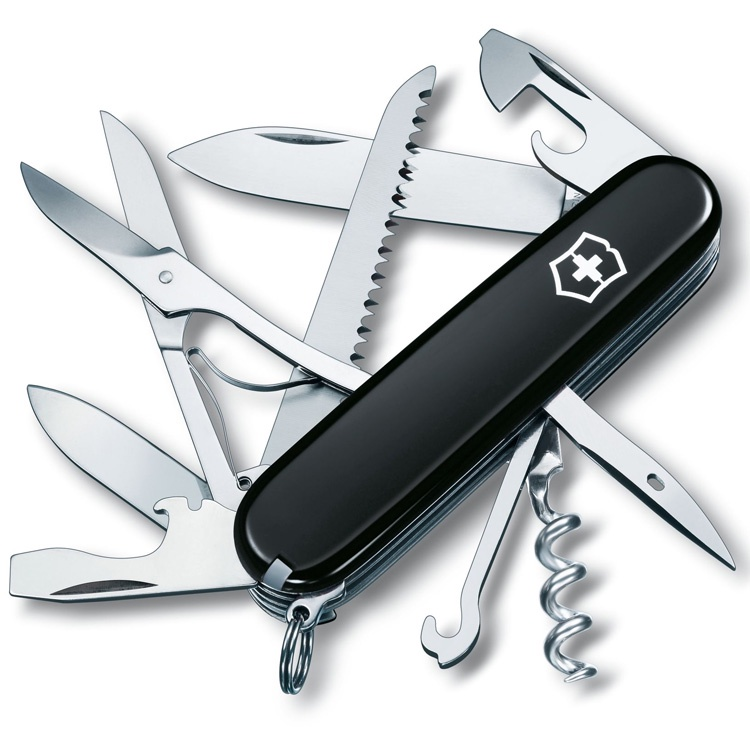 Нож перочинный Victorinox Huntsman - Черный (1.3713.3)