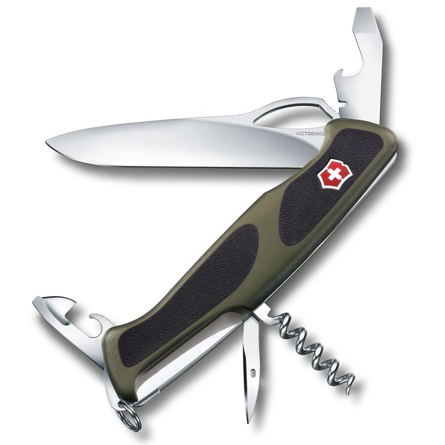 Нож перочинный Victorinox RangerGrip 61 - Черный/Зеленый (0.9553.MC4)