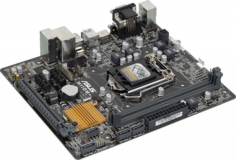 Материнская плата Asus H110M-R/C/SI Soc-1151 Intel H110 2xDDR4 mATX AC97 8ch(7.1) GbLAN+VGA+DVI+HDM