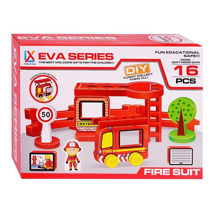 Конструктор 1601Н Пожарная служба (16 дет) набор машинок siku пожарная служба 1818rus