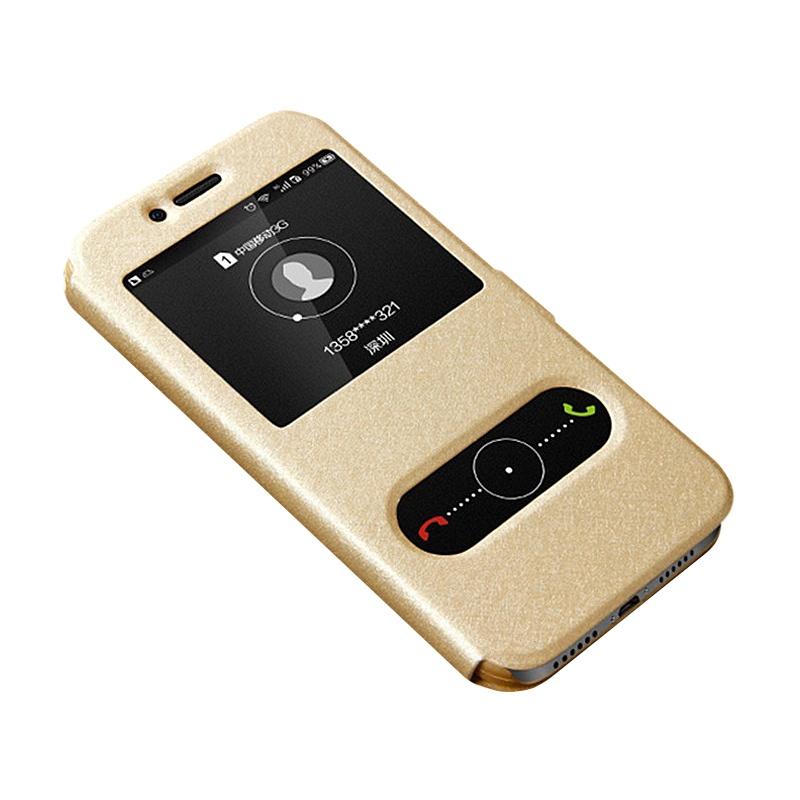 Чехол-книжка MyPads для Samsung Galaxy J7 Nxt / J7 Neo SM-J701F/DS 5.5 с окошком для входящих вызовов и свайпом золотой мобильный телефон samsung galaxy j7 neo sm j 701 f ds черный