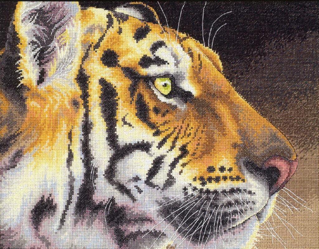 Набор для вышивания крестом Dimensions Царственный тигр, 36х28 см