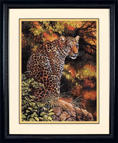 Набор для вышивания крестом Dimensions Пристальный взгляд леопарда, 30х41 см