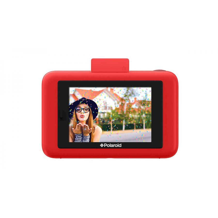 Фотокамера Polaroid Snap Touch с функцией мгновенной печати. LCD touch дисплей 3,5 дюйма, запись видео 1080p. Цвет красный.