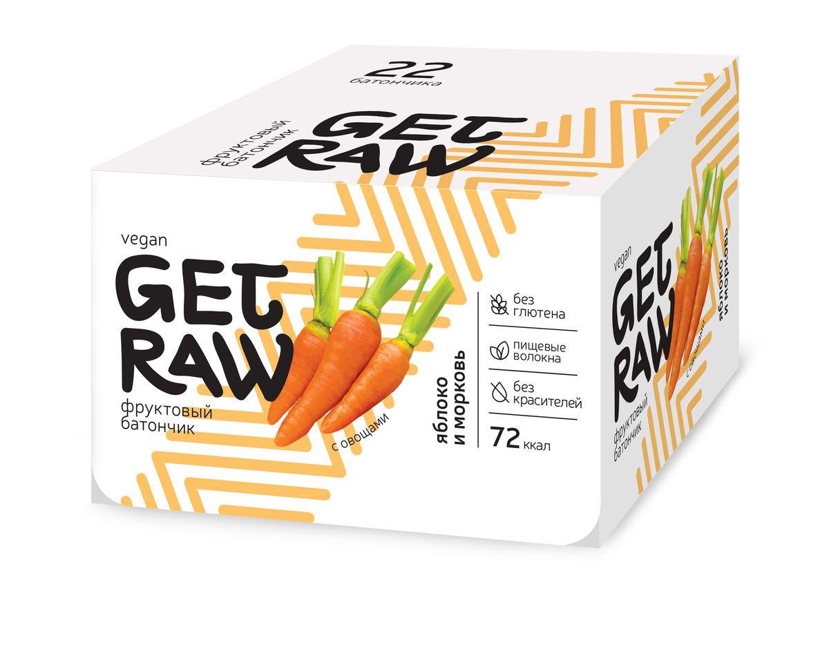 Диетический батончик Get Raw Яблоко, морковь, 22 шт по 30 г