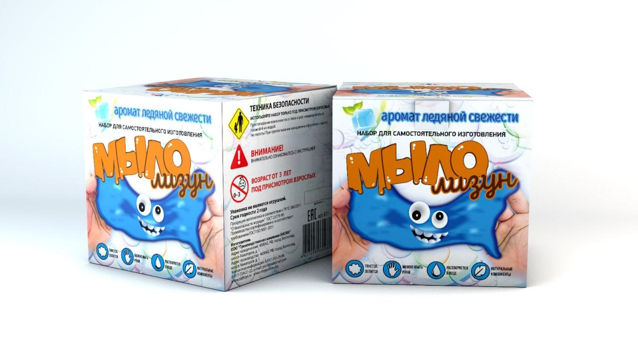 Набор для опытов ИННОВАЦИИ ДЛЯ ДЕТЕЙ Мыло-лизун Ледяная свежесть набор для опытов инновации для детей 835 мыло лизун тропический фреш