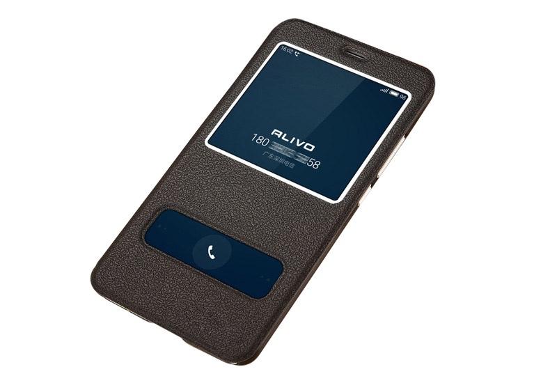 купить Чехол-книжка MyPads для Meizu M6 Note с окошком для входящих вызовов и свайпом чёрный по цене 788 рублей