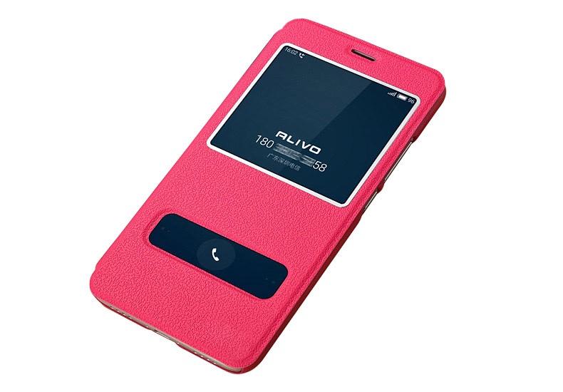 купить Чехол-книжка MyPads для Meizu M6 Note с окошком для входящих вызовов и свайпом розовый по цене 788 рублей