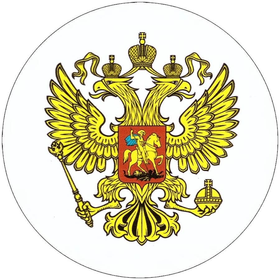 Наклейка на автомобиль С символикой Герб России виниловая 14х13 для автомобиля или на автомобиль