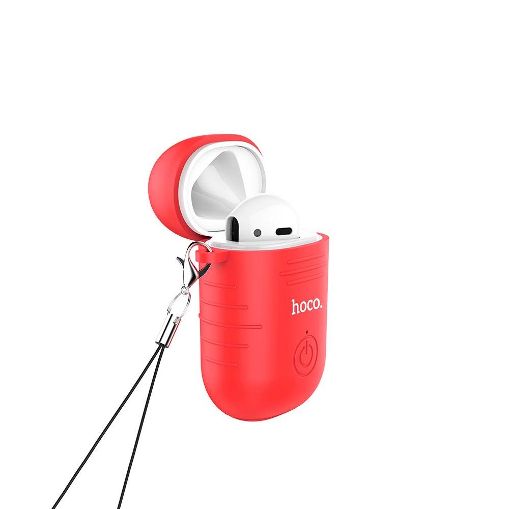 Гарнитура Bluetooth Hoco E39 Admire Sound Single, на правое ухо, с красным силиконовым чехлом, универсальная белая стоимость
