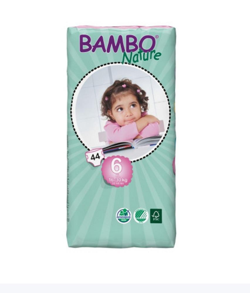Подгузники Bambo Nature XL 16-30 КГ БОЛЬШАЯ УПАКОВКА (44 ШТ)