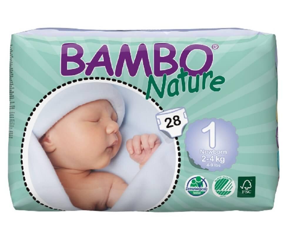 Подгузники Bambo Nature Newborn 2-4 кг (28 шт)