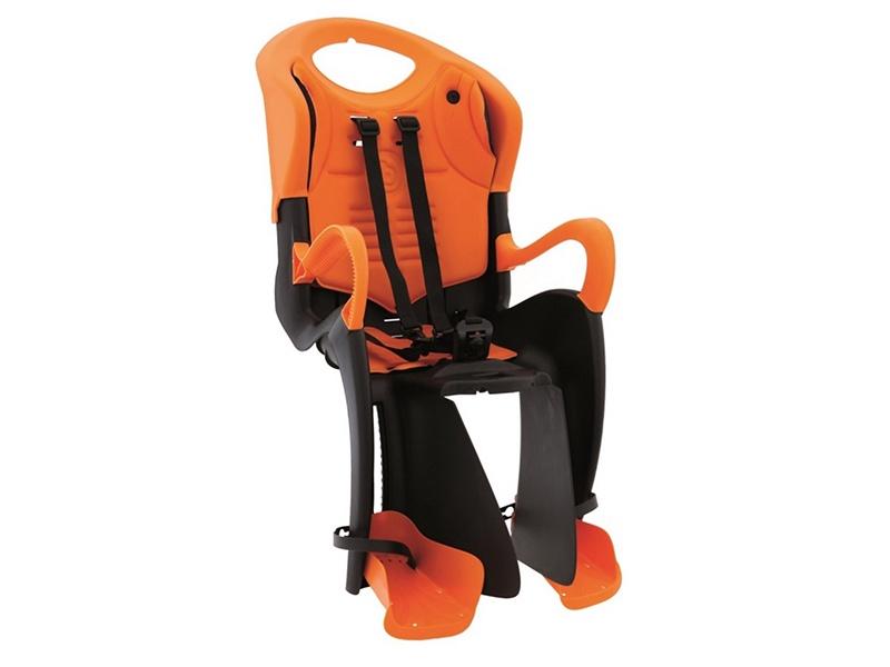 BELLELLI Сидение заднее Tiger Standard B-Fix, чёрно-оранжевое с оранжевой вставкой, до 22кг цены