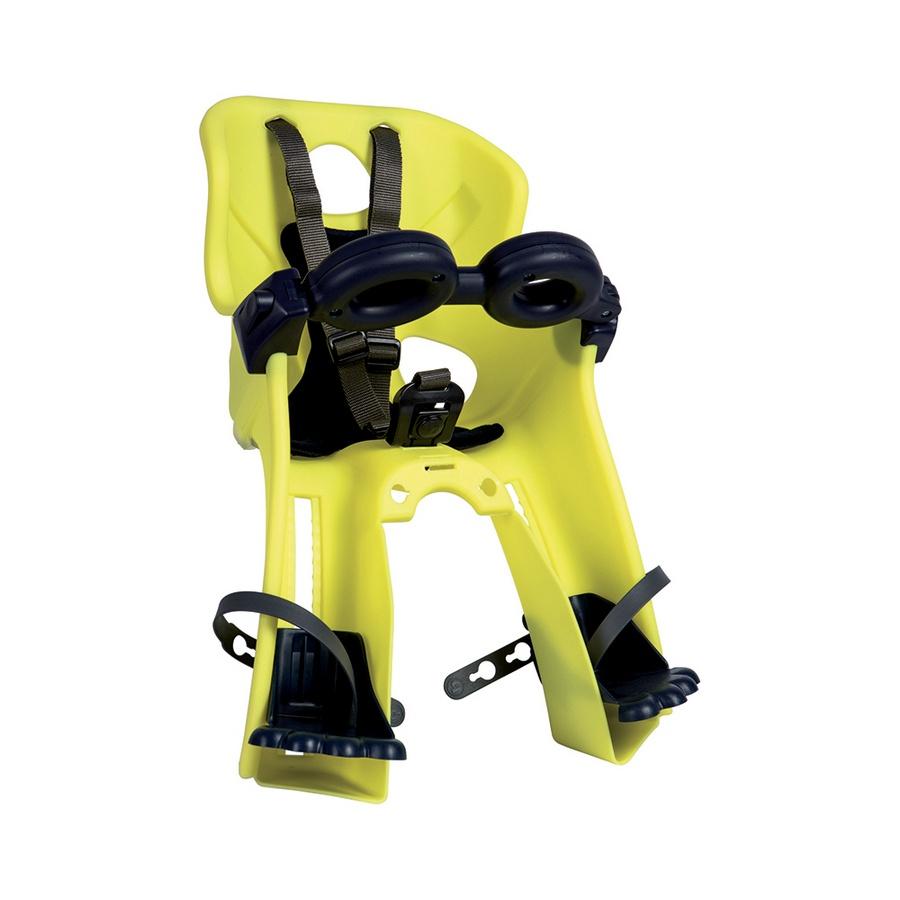 цена BELLELLI Сидение переднее Freccia B-Fix Hi-Viz, светоотражающее, жёлтое, до 15кг онлайн в 2017 году