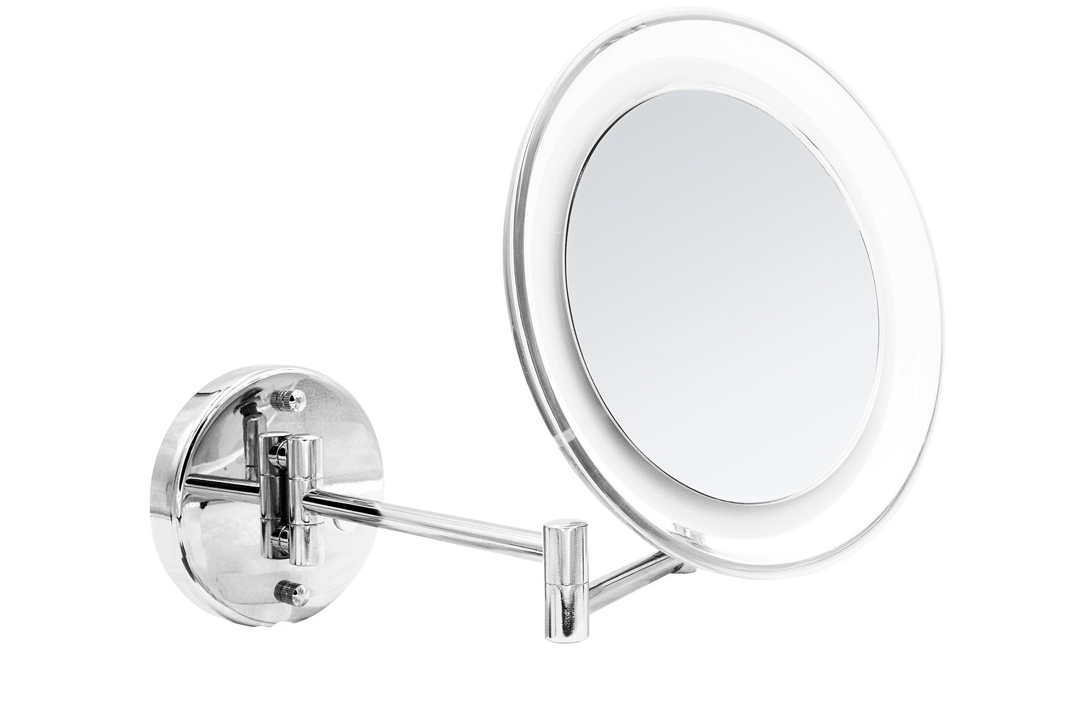 Зеркало косметическое подвесное Jasmin 5х-увелич. LED USB хром Ridder