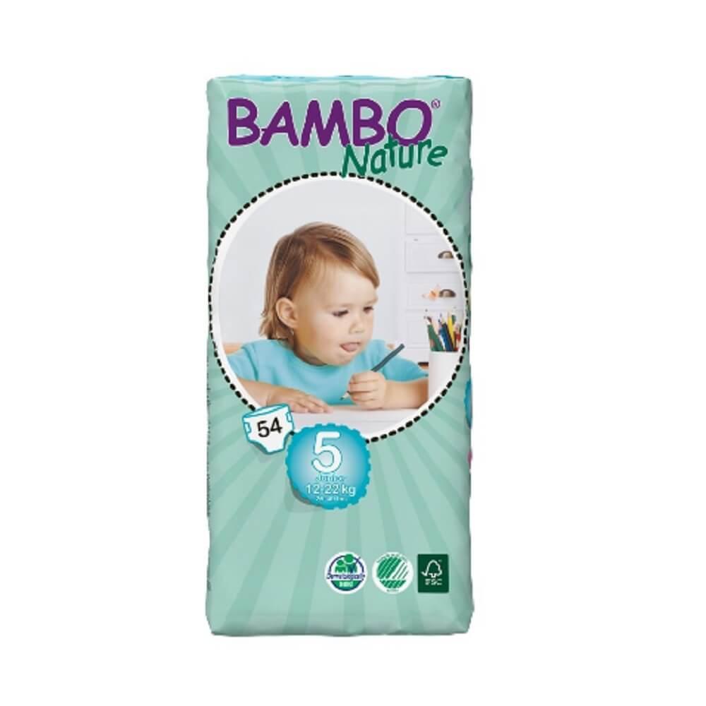 Подгузники Bambo Nature Junior 12-22 кг большая упаковка (54 шт)