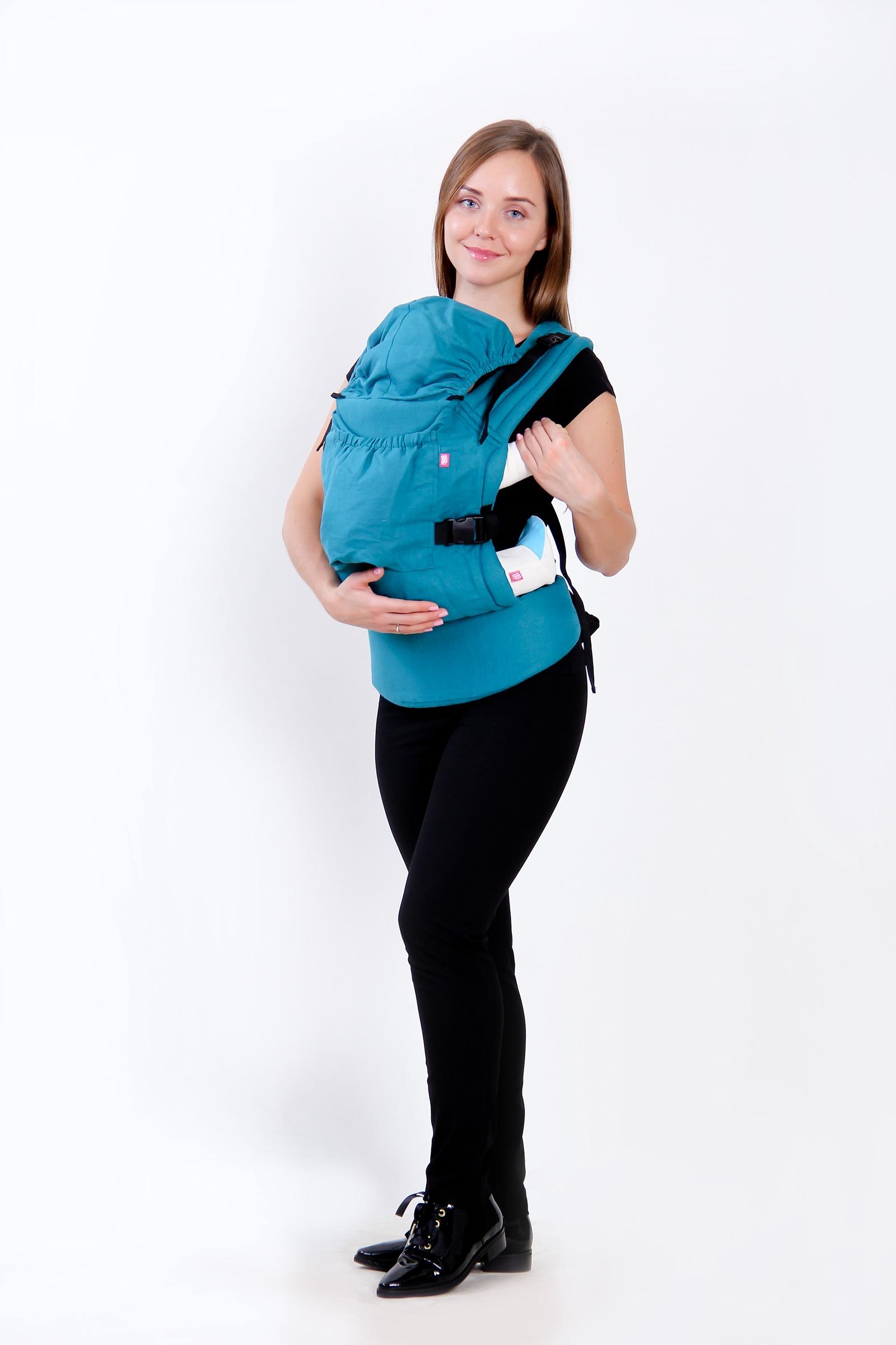 рюкзак переноска риббис bibi лён сиреневый Эрго-рюкзак BiBi-Лён (цвет изумрудный)
