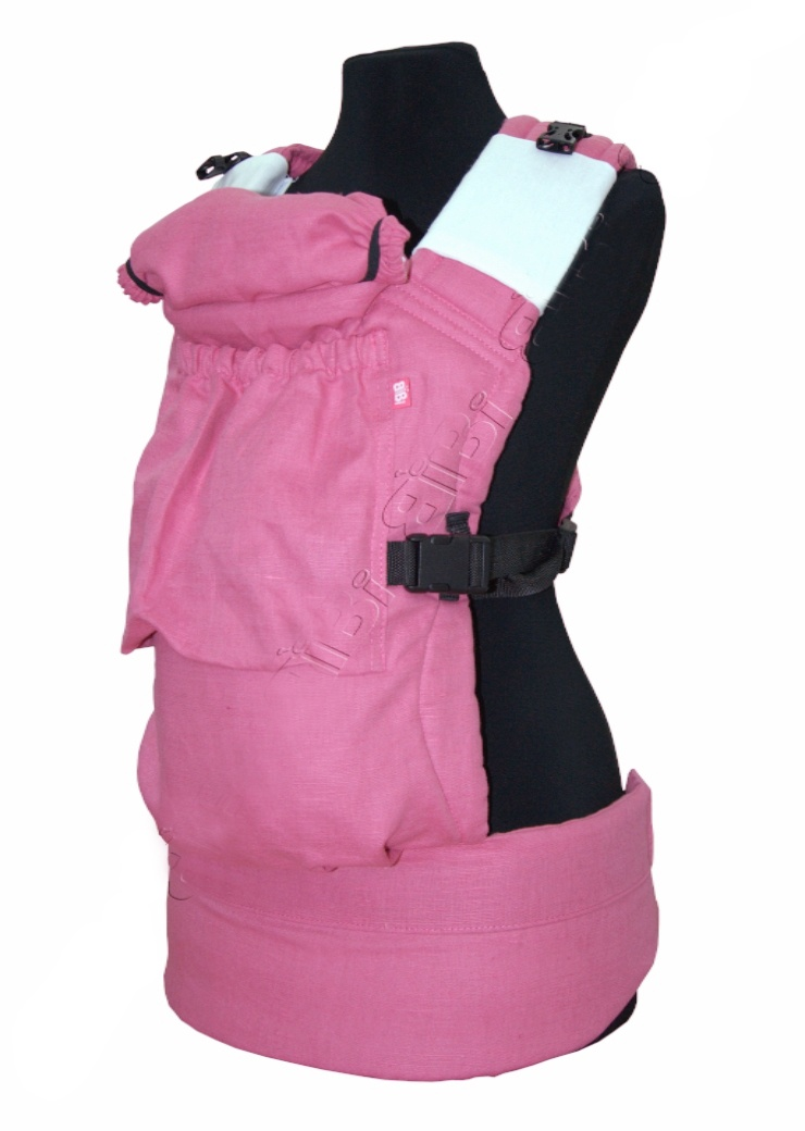 рюкзак переноска риббис bibi лён сиреневый Эрго-рюкзак BiBi-Лён (цвет розовый)