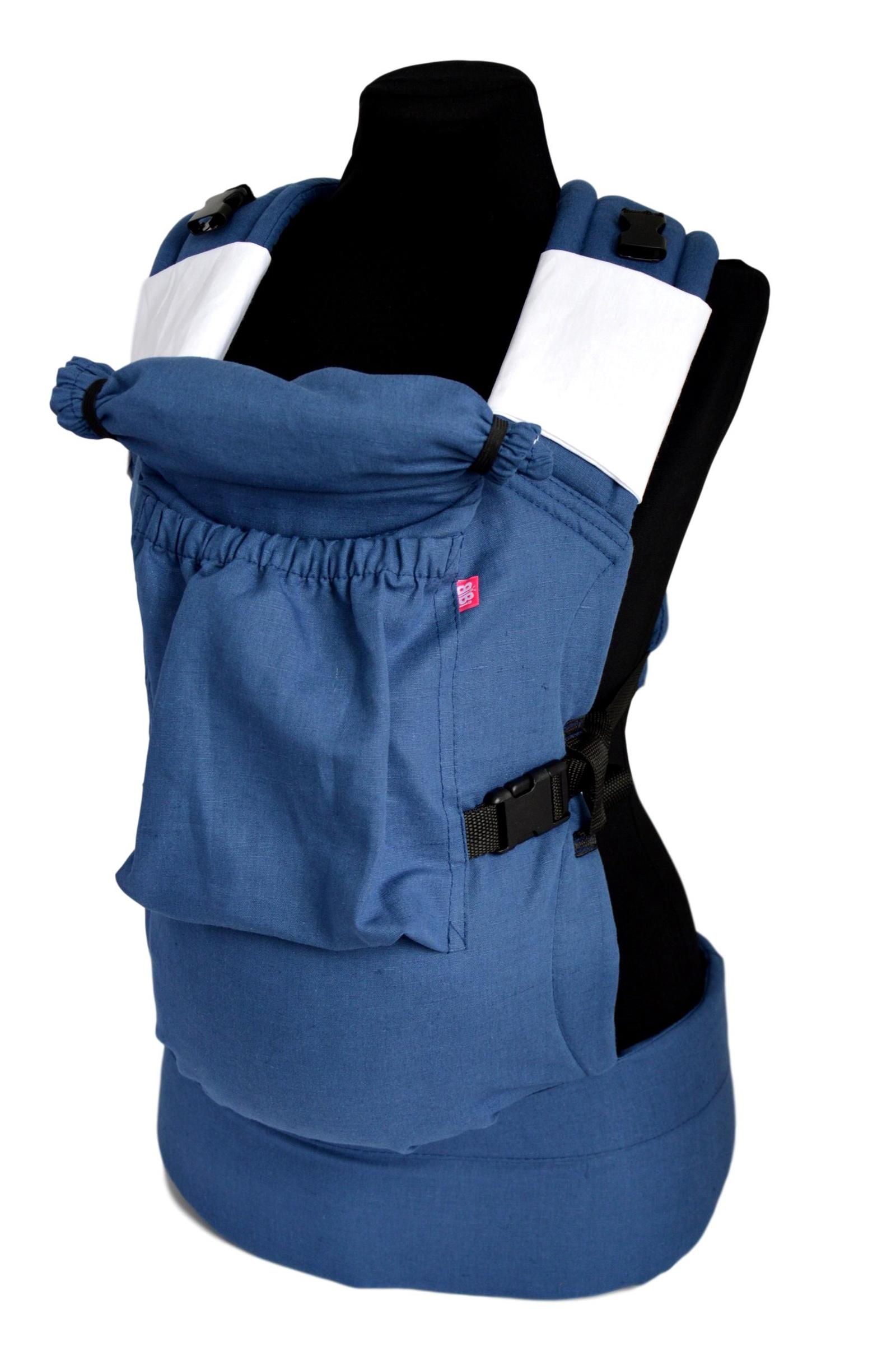 рюкзак переноска риббис bibi лён сиреневый Эрго-рюкзак BiBi-Лён (цвет джинсовый)
