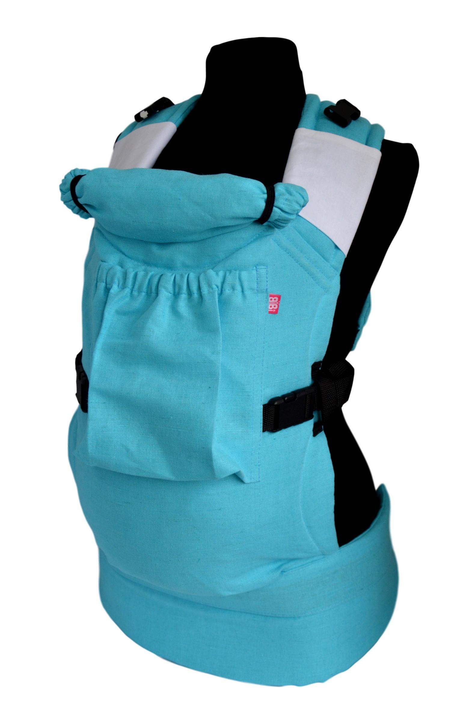 рюкзак переноска риббис bibi лён сиреневый Эрго-рюкзак BiBi-Лён (цвет бирюзовый)