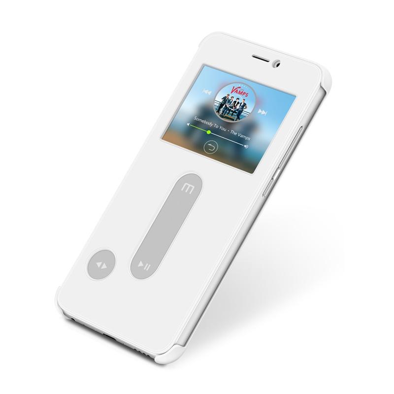 Чехол-книжка MyPads для Meizu Pro 6 Plus с окошком для входящих вызовов и свайпом белый MyPads