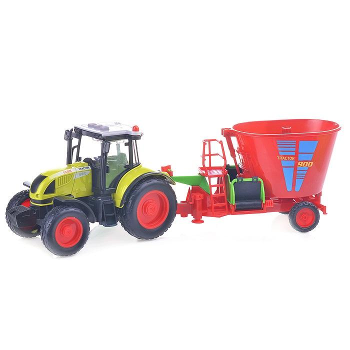 Трактор WY900K на батарейках 1:16 в коробке