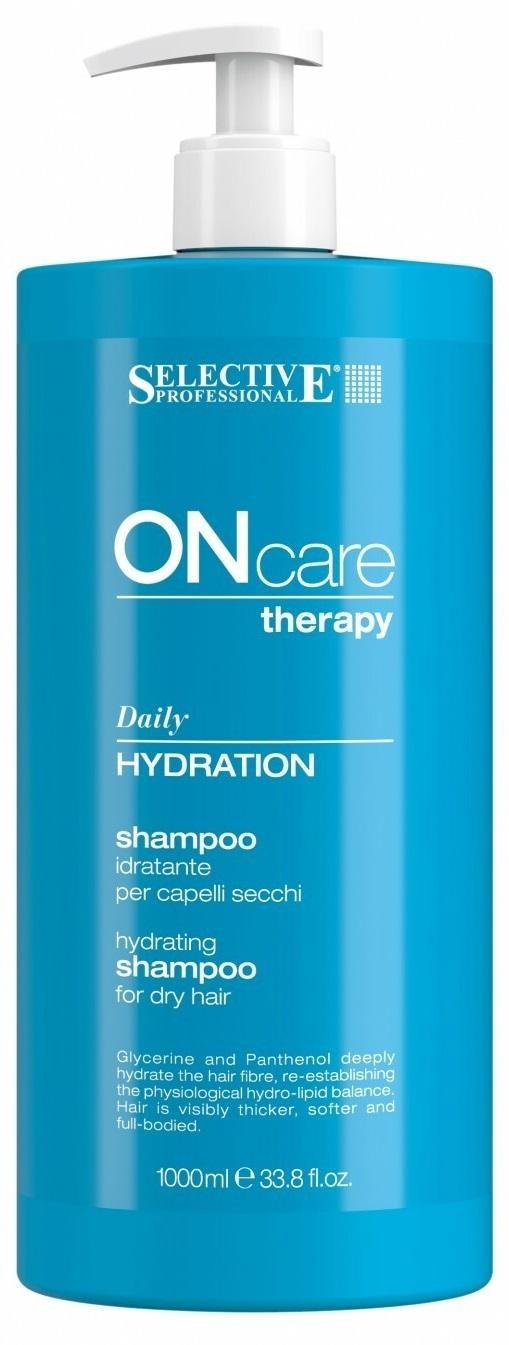 Увлажняющий шампунь для сухих волос Selective Professional Hydration shampoo, 1000 мл selective professional hydration shampoo шампунь увлажняющий для сухих волос 1000 мл