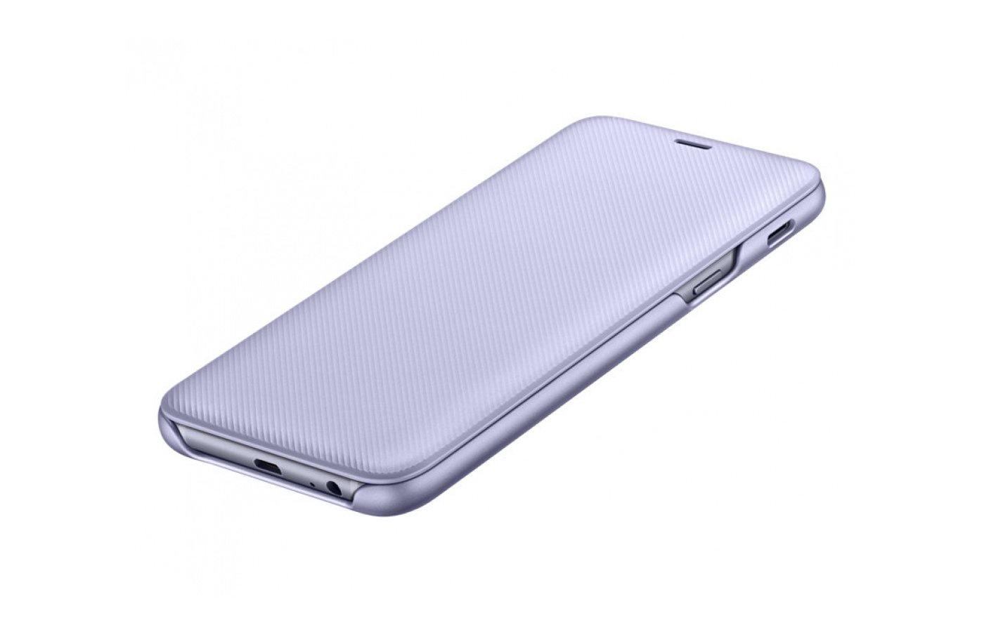 Чехол для Samsung Galaxy A6+ (2018) EF-WA605CVEGRU чехол флип кейс samsung для samsung galaxy j6 2018 wallet cover пурпурный ef wj600ceegru