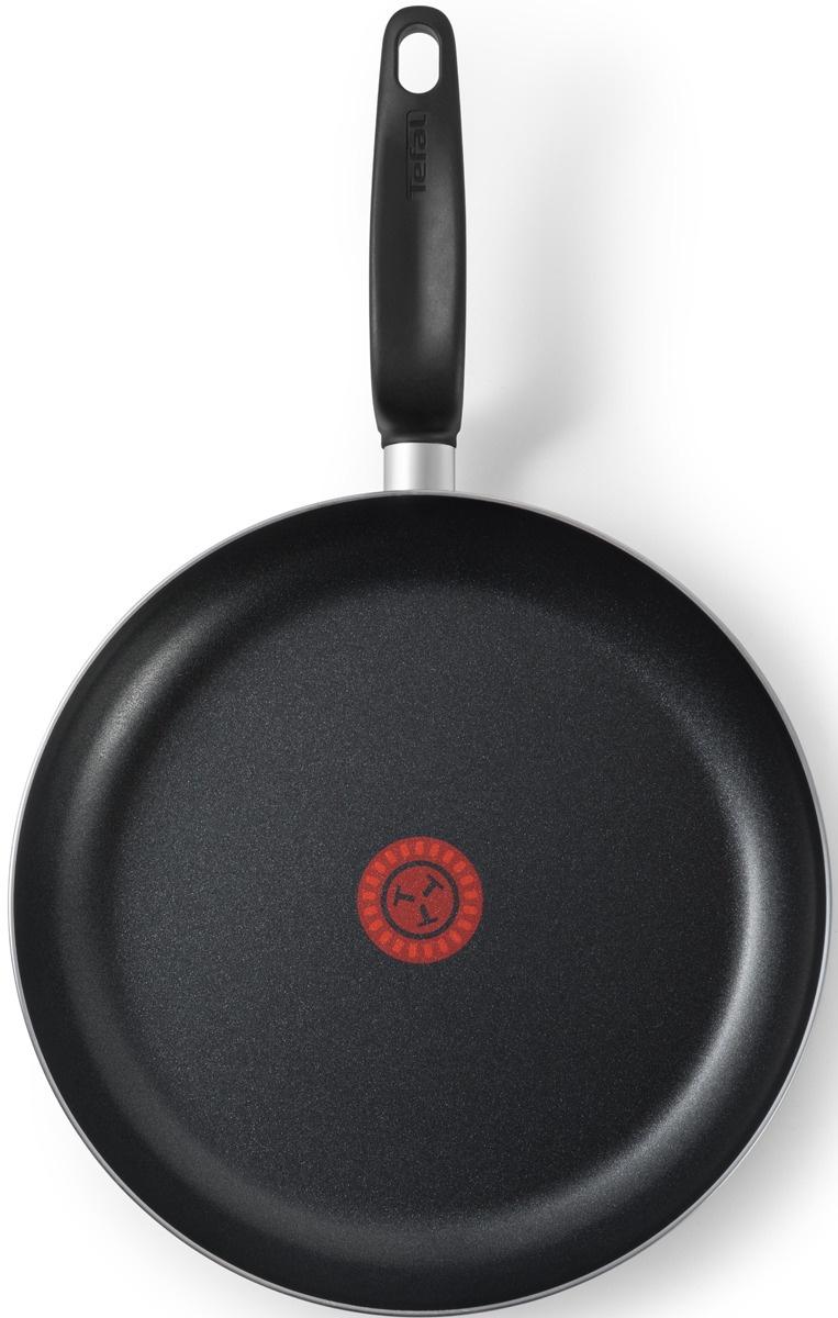 Сковорода Tefal Tempo с крышкой, с антипригарным покрытием, 26 см сковорода tefal intution 20см