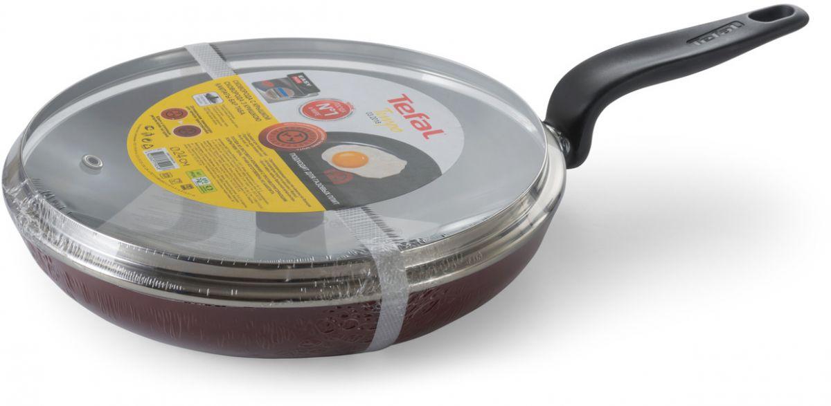 Сковорода Tefal Tempo с крышкой, с антипригарным покрытием, 24 см сковорода tefal extra с крышкой с антипригарным покрытием диаметр 26 см