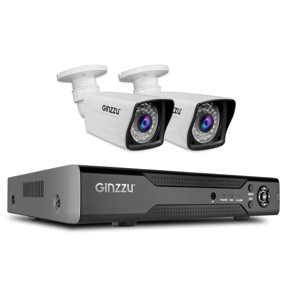 Комплект HK-425D,4ch,1080N,HDMI,2улич кам 1.0Mp,IR20м,пласт блок питания для камер видеонаблюдения ginzzu для питания 2 4 камер 12v 2 0a