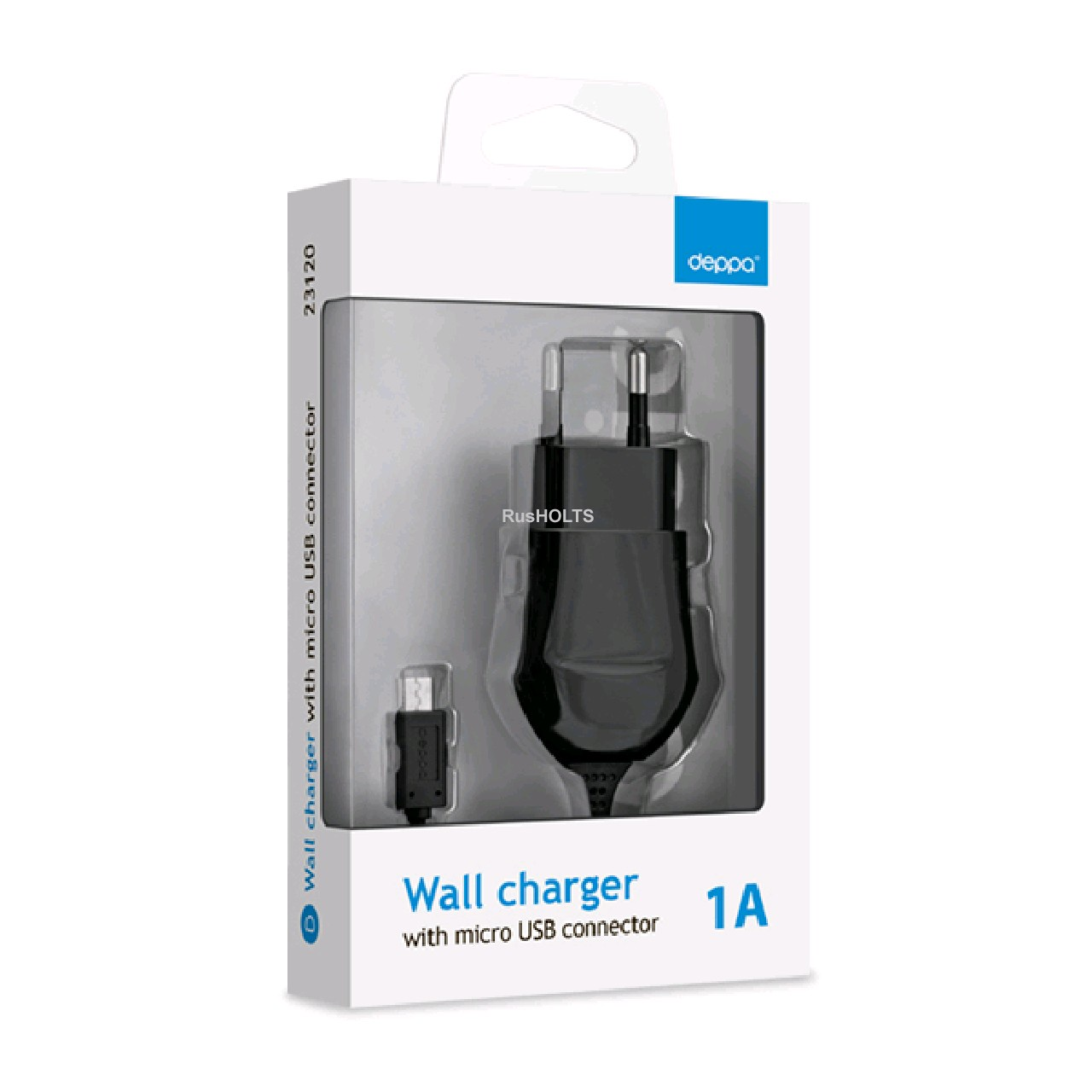 Сетевое зарядное устройство Deppa 23121 (USB 1A, черный)