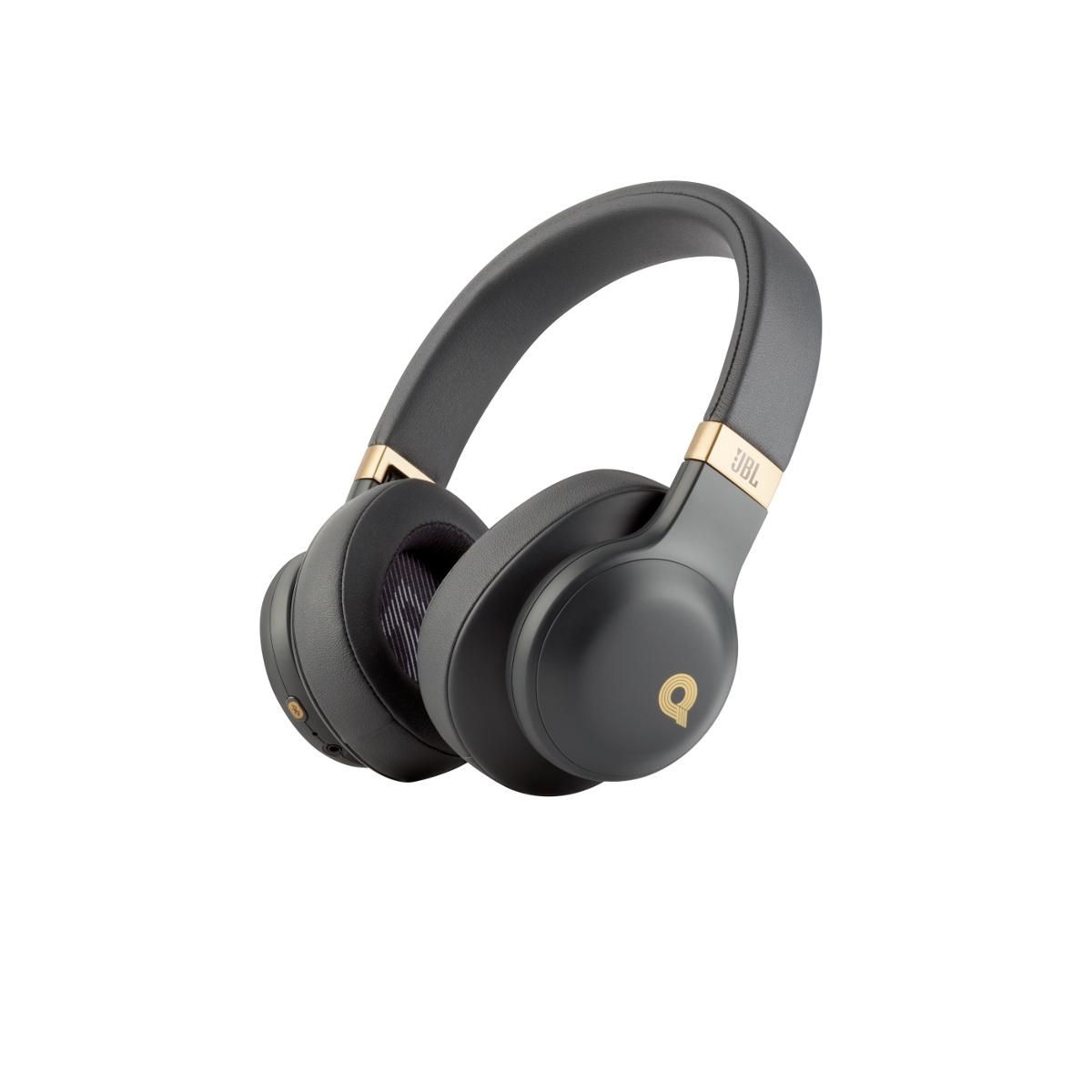 Наушники/mic/Bt JBL E55BTQEBLK 1.3м черный/золотистый беспроводные