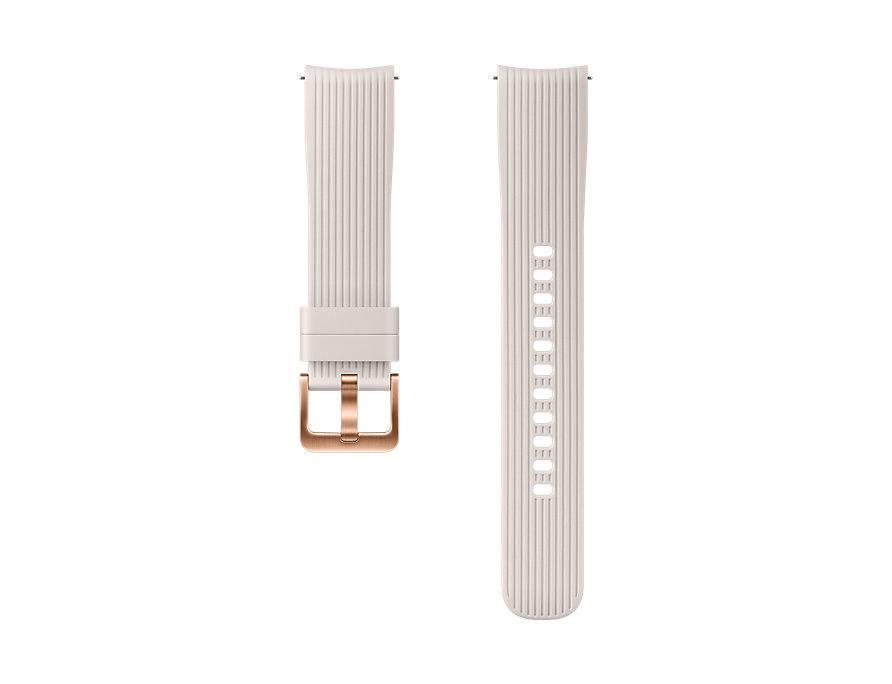 Ремешок Samsung для Galaxy Watch (42мм)/Gear Sport силиконовый серебристый (ET-YSU81MSEGRU) ремешок samsung для samsung galaxy watch 46мм samsung gear sport серый