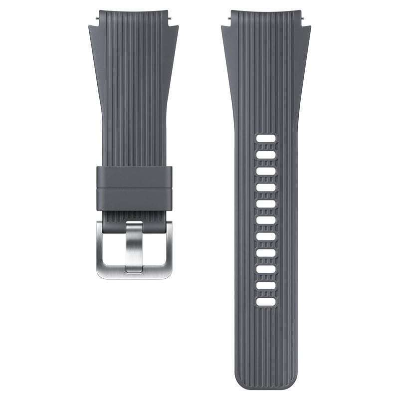 Ремешок Samsung для Galaxy Watch (46мм)/Gear S3 силиконовый серый (ET-YSU80MJEGRU) ремешок samsung для samsung galaxy watch 46мм samsung gear sport серый