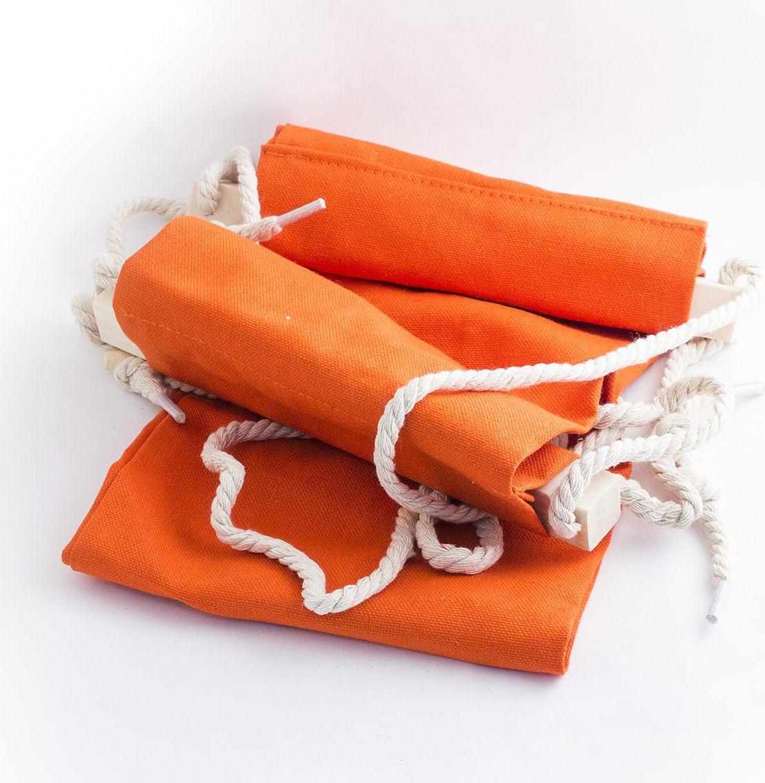Гамак для ног Эврика, цвет: оранжевый, 62 х 17 х 2 см гамак для ног эврика цвет оранжевый 62 х 17 х 2 см